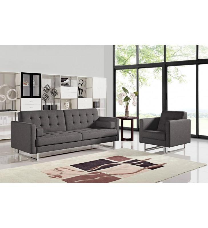 Grey Fabric Sofa Bed VIG Divani Casa Bauxite Contemporary Modern