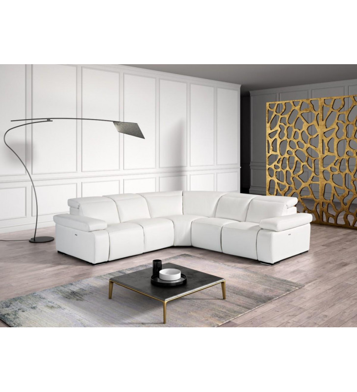VIG Estro Salotti Hyding White Full Leather Reclining Sectional SPECIAL ORDER