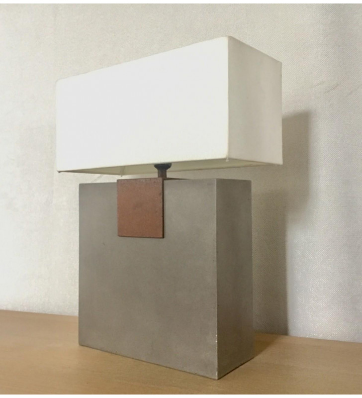 Concrete Table Lamp VIG Modrest Santos Modern Contemporary