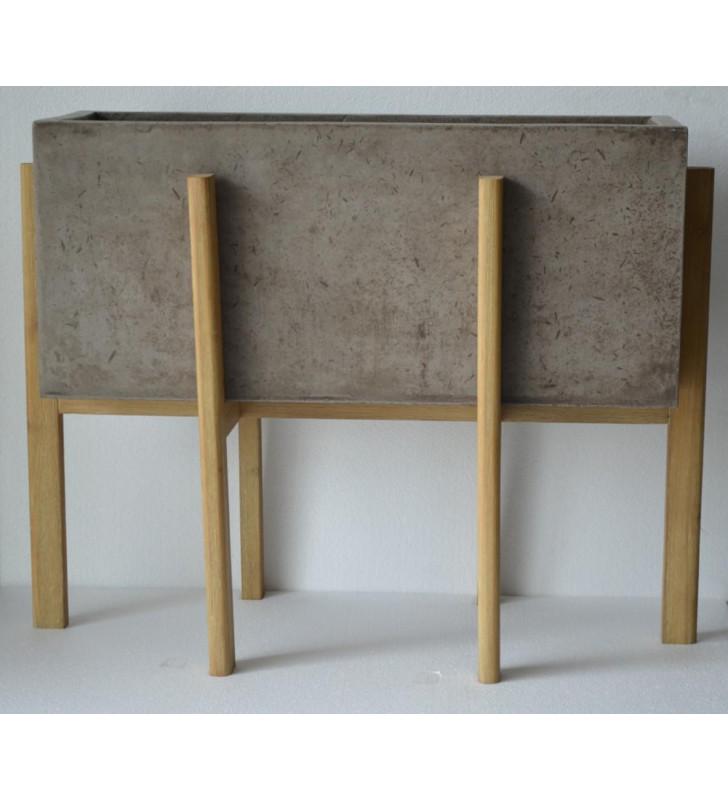 Concrete Rectangular Planter VIG Modrest Polk Modern Contemporary