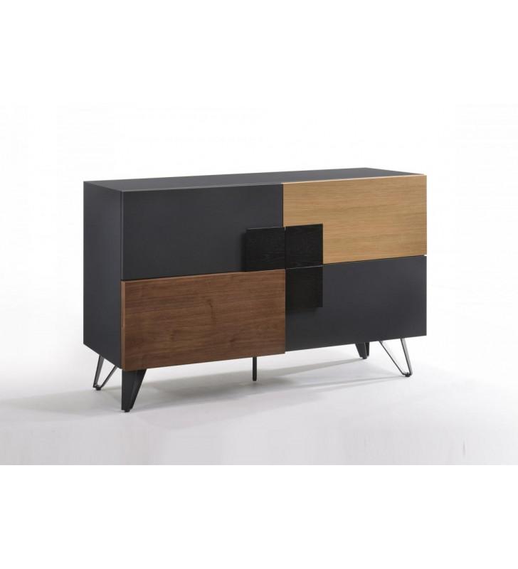 Multi Colored Side Board VIG Modrest Lillian Contemporary Modern