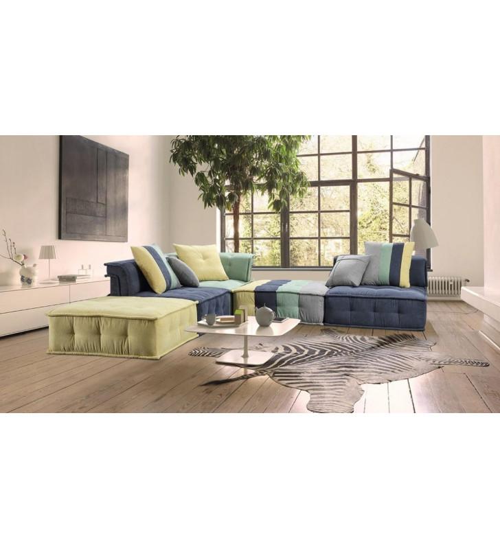 Multicolor Fabric Modular Sectional Sofa VIG Divani Casa Dubai Second Modern