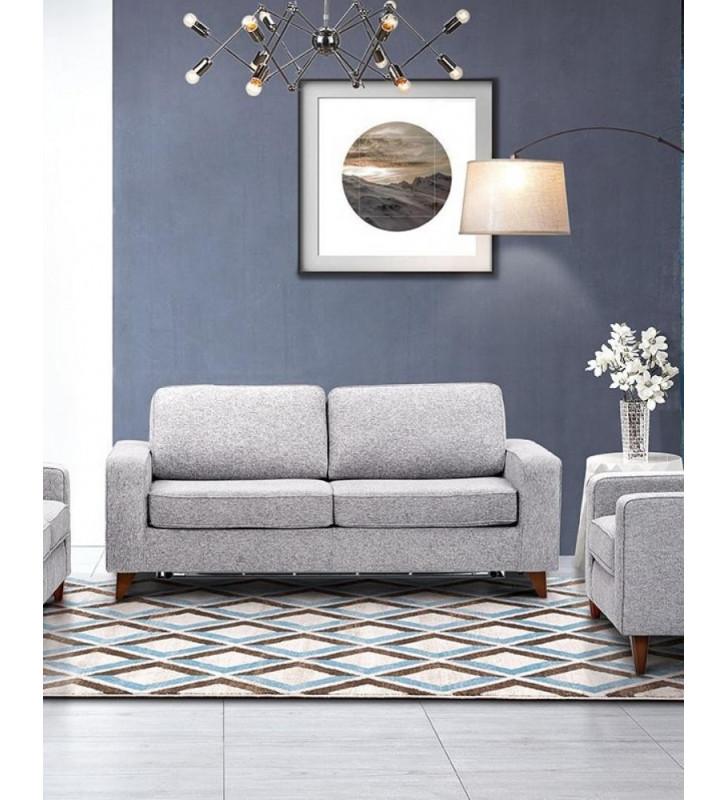 Gray Chenille Fabric Sleeping Sofa Bed Contemporary ESF Gary