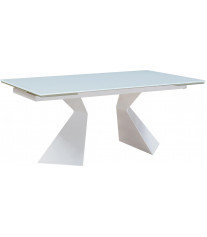 White Modern Extandable Dining Table Made In Italy ESF 992 DT