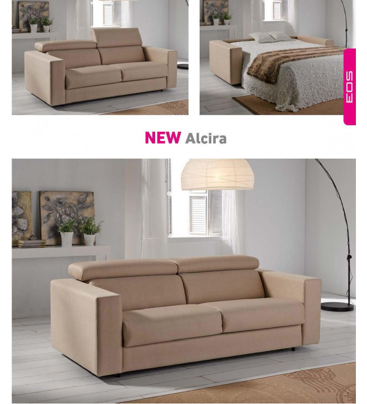 ESF Alcira Contemporary Cappucino Fabric Living Room Sofa Bed SPECIAL ORDER