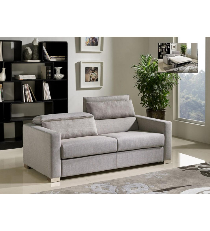 Grey Fabric Sofa Bed VIG Divani Casa Norfolk Modern Contemporary