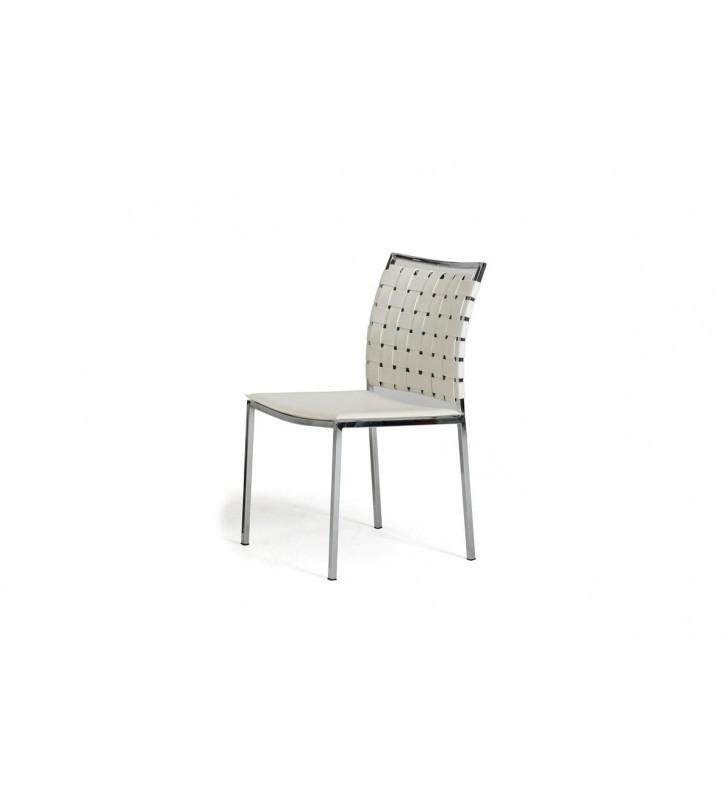 VIG Modrest Shasta Modern White Eco-Leather Dining Chair (Set of 2)