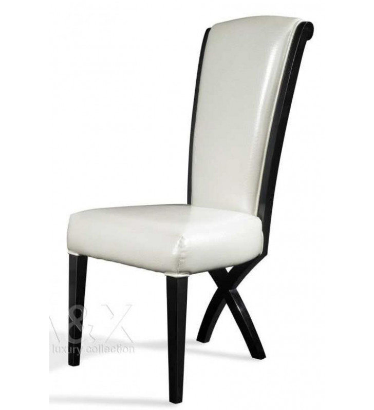 A&X Transitional X leg Dining Side Chair (Set of 2)