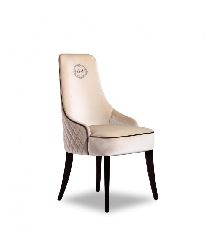 A&X Talin Off-White Velour Dining Chair (Set of 2)