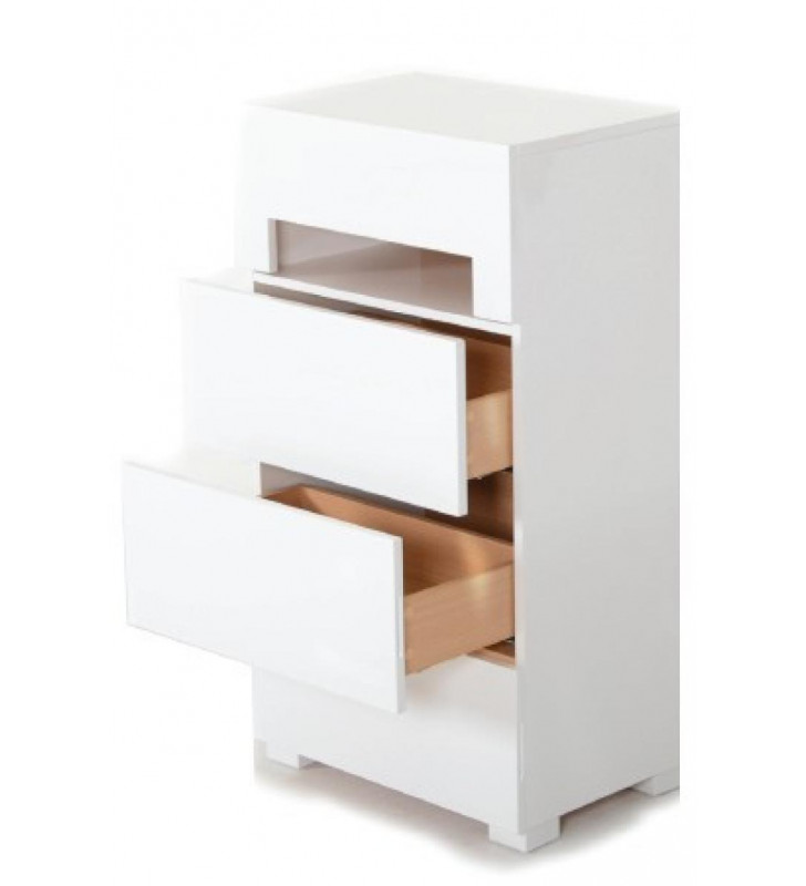 Chest w/Light in Glossy White VIG Modrest Ceres Modern Contemporary