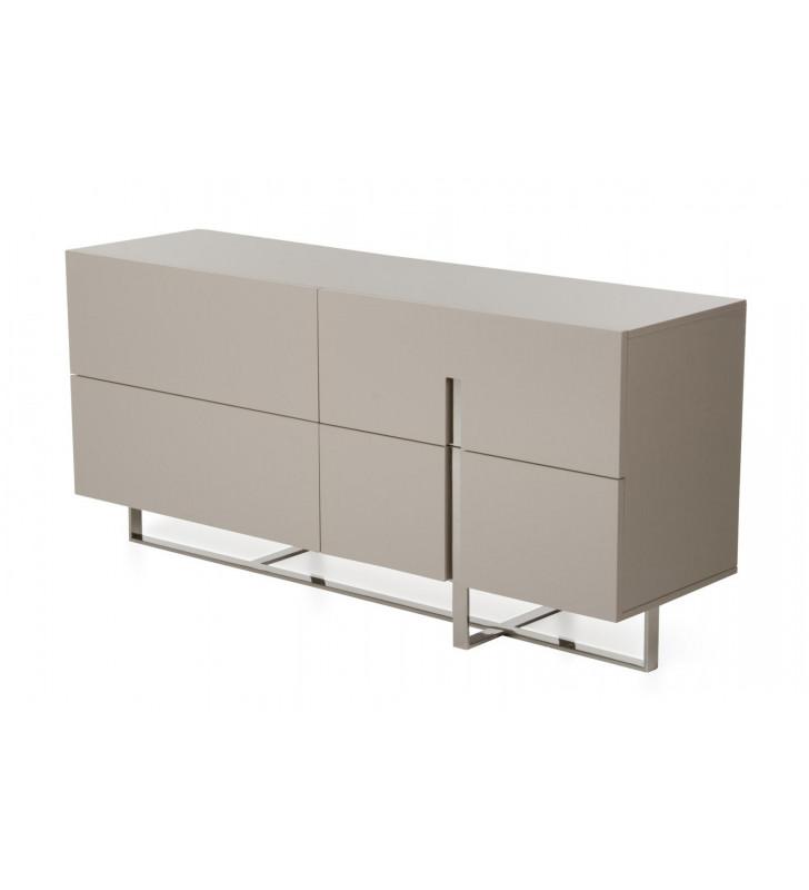 Glossy Grey Dresser VIG Modrest Voco Modern Contemporary