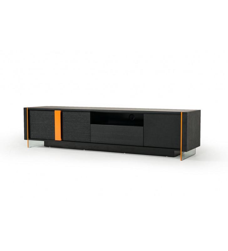 Black Oak Floating TV Stand VIG Modrest Vision Modern Contemporary
