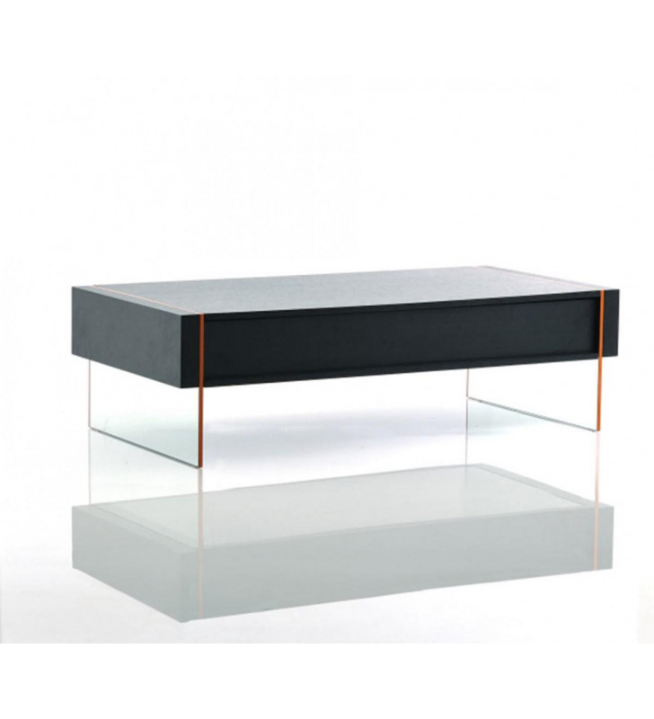Black Oak Floating Coffee Table VIG Modrest Vision Modern Contemporary