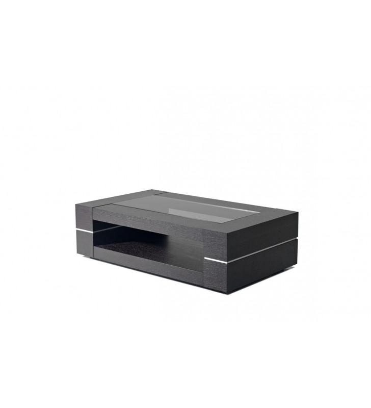Black Oak Coffee Table VIG Modrest Mesa Modern Contemporary