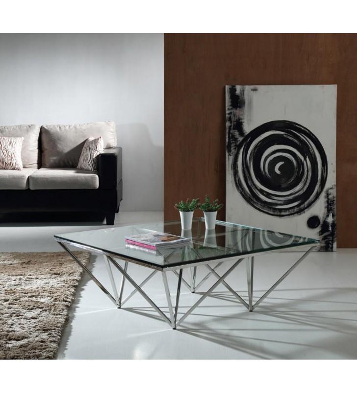 Glass Coffee Table VIG Modrest Newark Contemporary