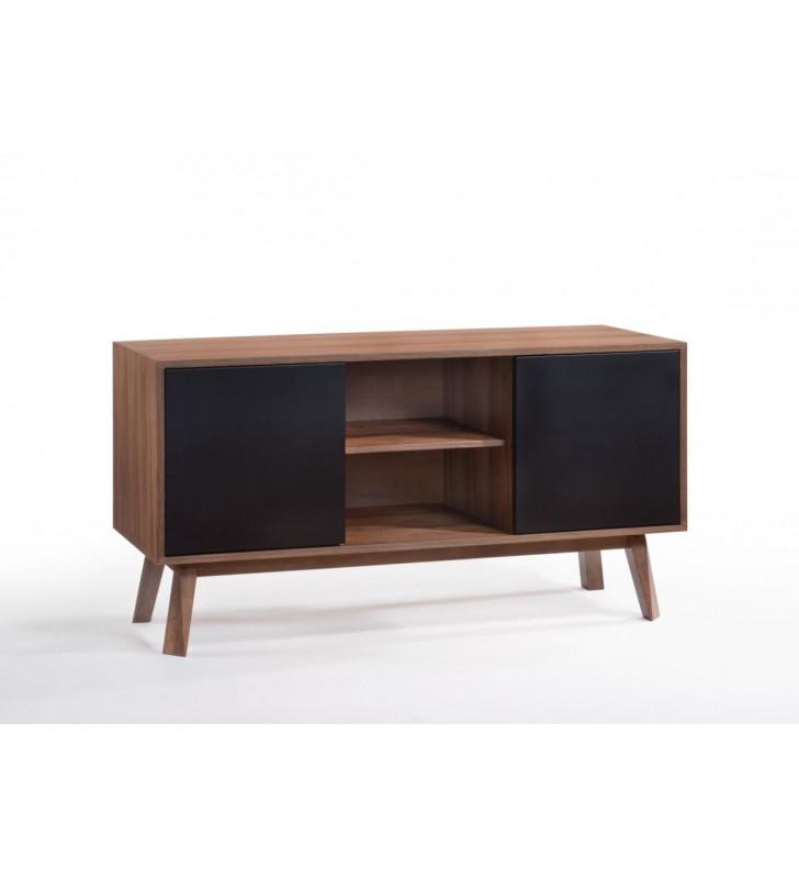 VIG Furniture Modrest Laken Walnut & Black Buffet Modern Contemporary