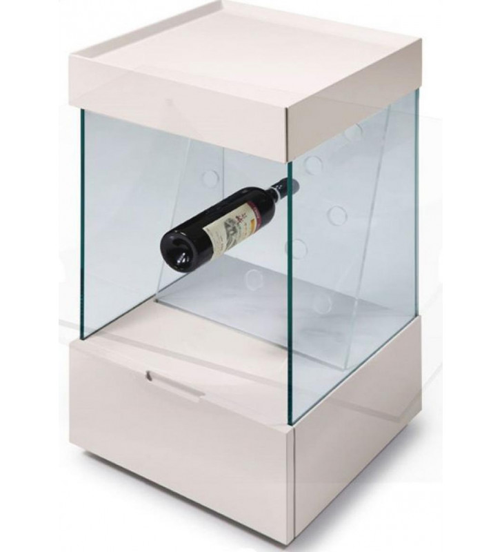 Glossy White Wine Shelf VIG Modrest Vine Contemporary Modern