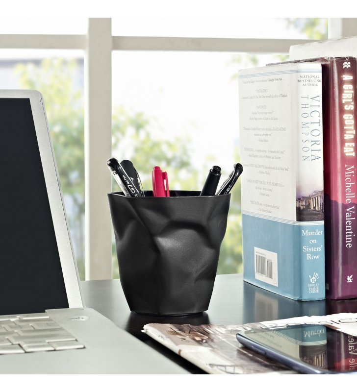 Lava Pencil Holder in Black - Lexmod