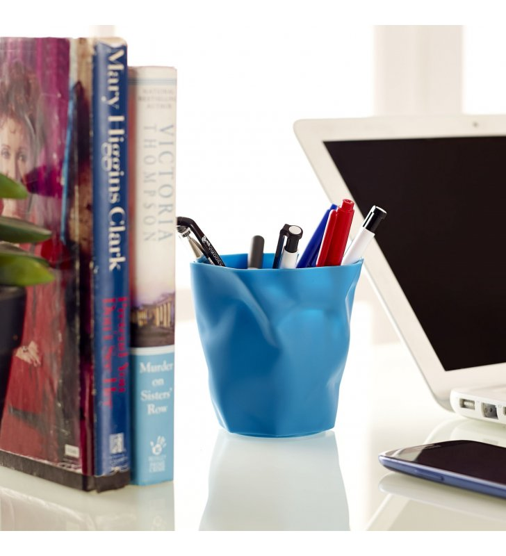 Lava Pencil Holder in Blue - Lexmod