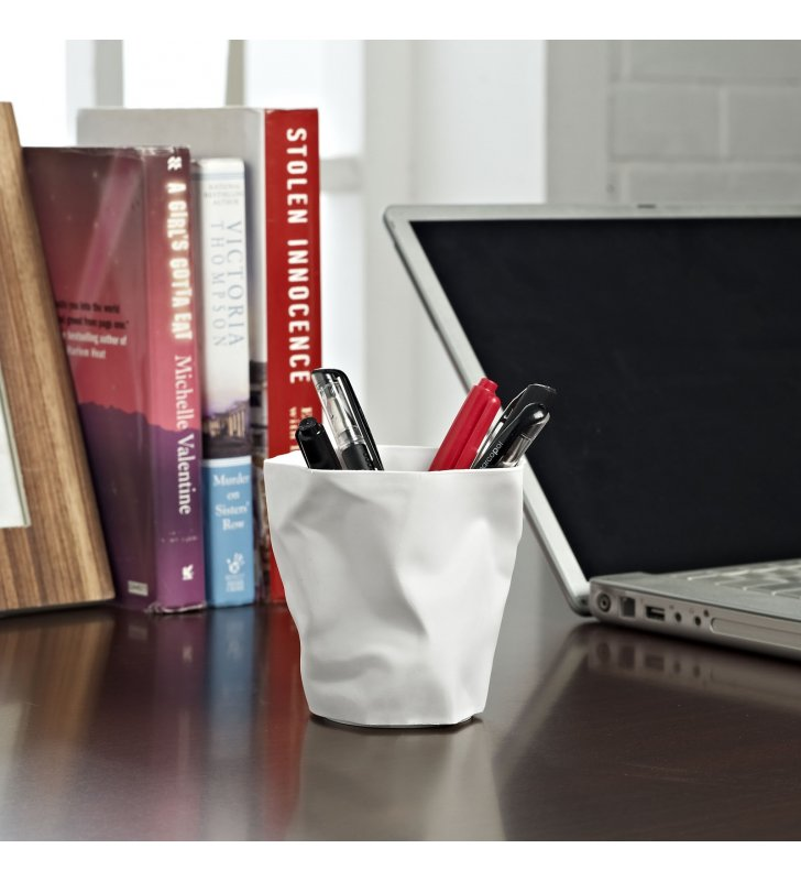 Lava Pencil Holder in White - Lexmod