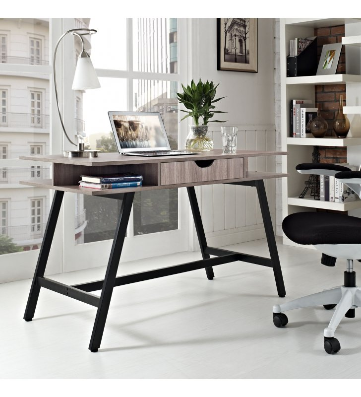 Turnabout Office Desk in Birch - Lexmod