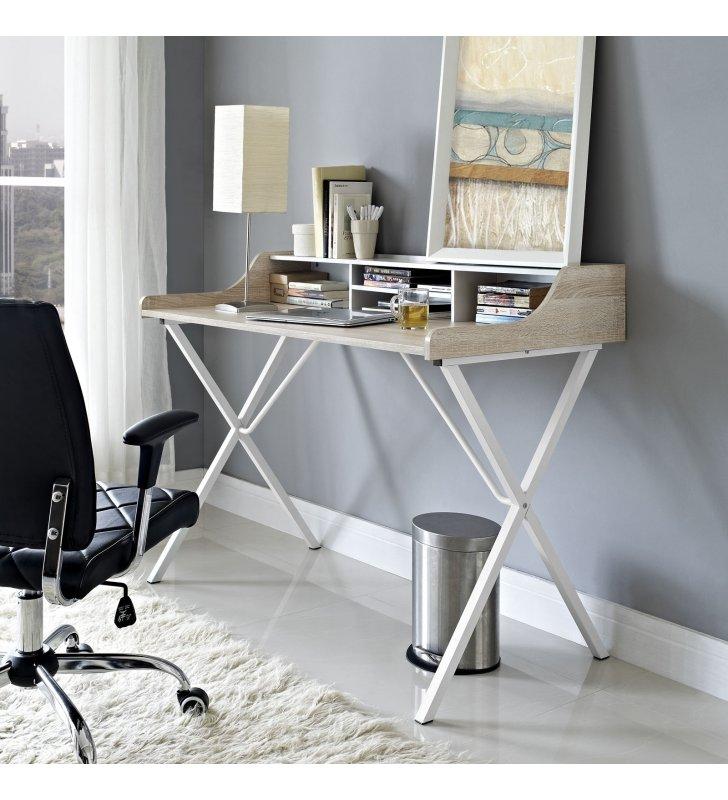 Bin Office Desk in Oak - Lexmod