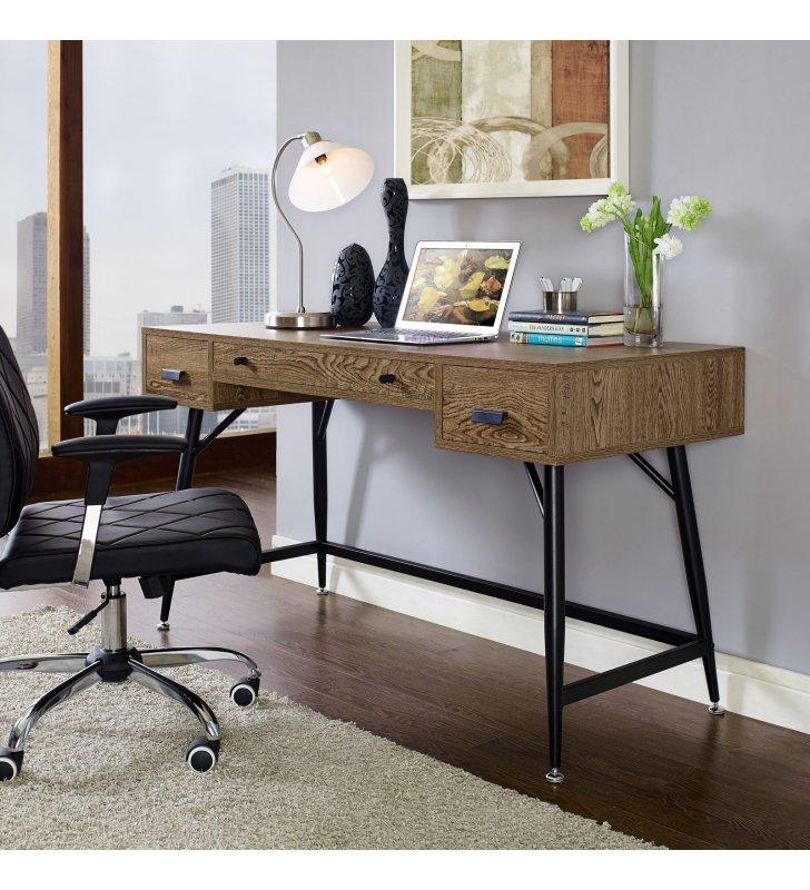Surplus Office Desk in Walnut - Lexmod