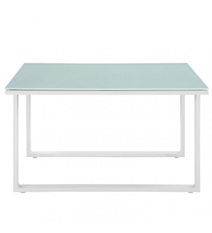 Fortuna Outdoor Patio Side Table in White - Lexmod