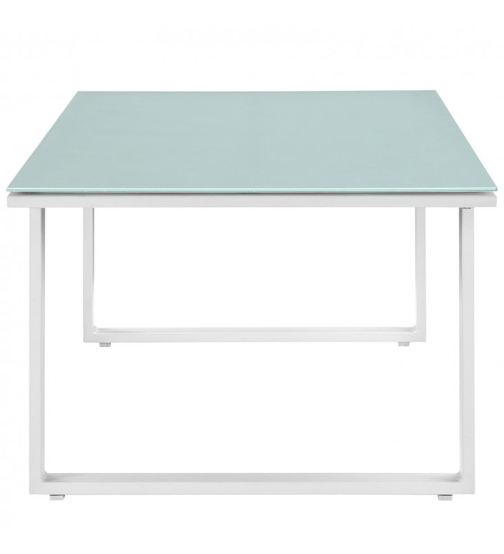 Fortuna Outdoor Patio Coffee Table in White - Lexmod