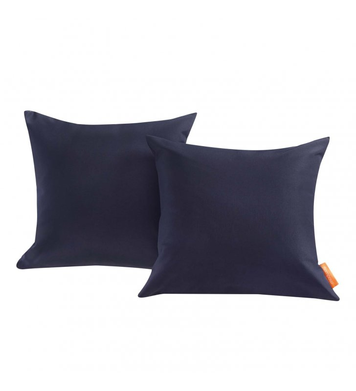 Convene Two Piece Outdoor Patio Pillow Set in Navy - Lexmod