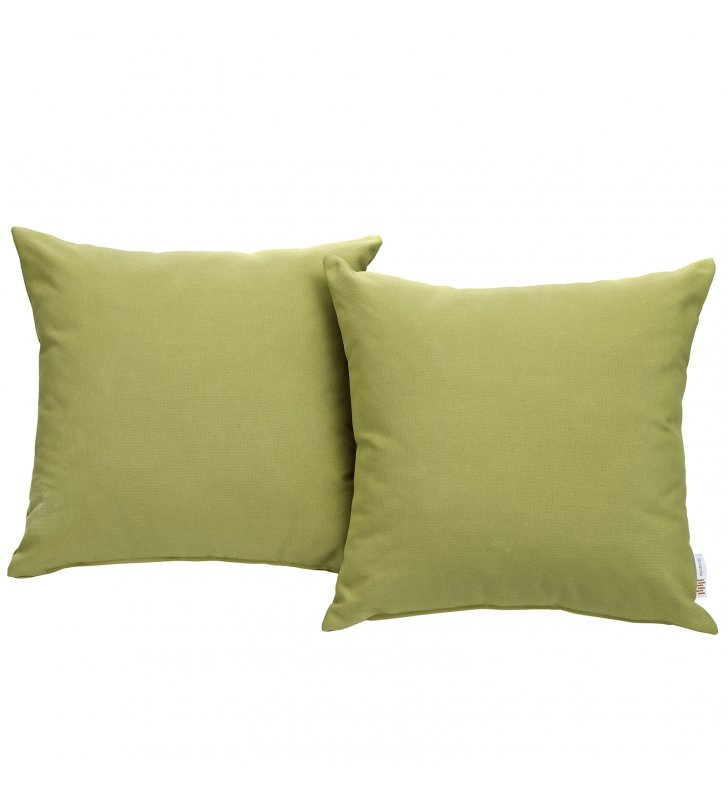 Convene Two Piece Outdoor Patio Pillow Set in Peridot - Lexmod