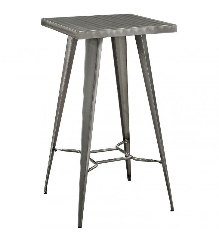 Direct Metal Bar Table in Gunmetal - Lexmod
