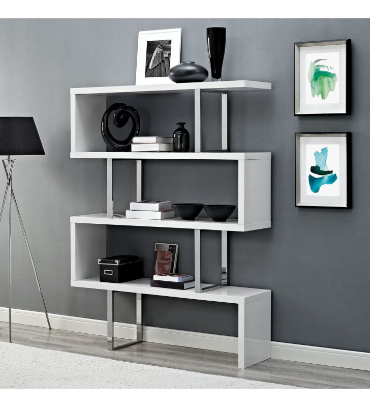 Meander Stand in White - Lexmod