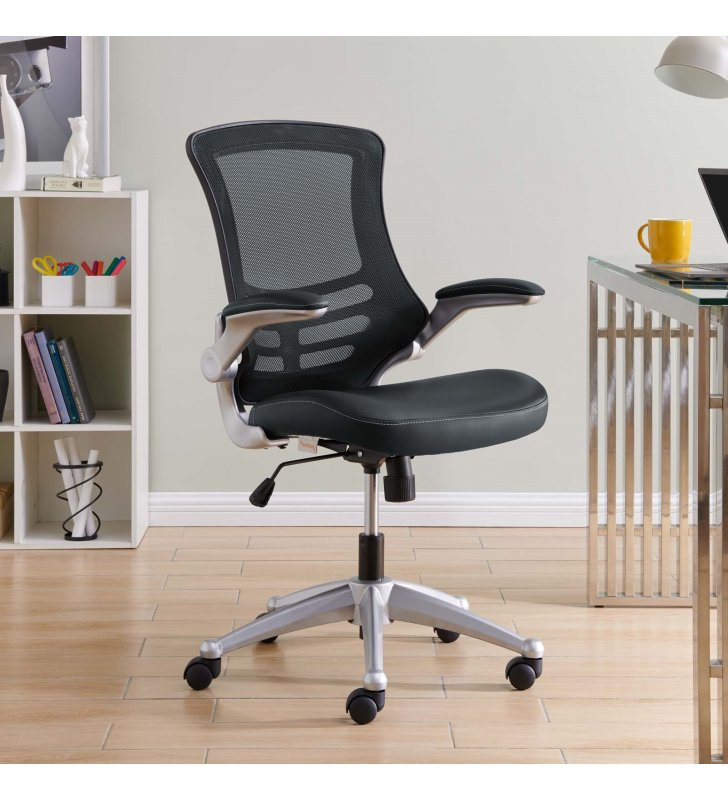 Attainment Office Chair in Black - Lexmod