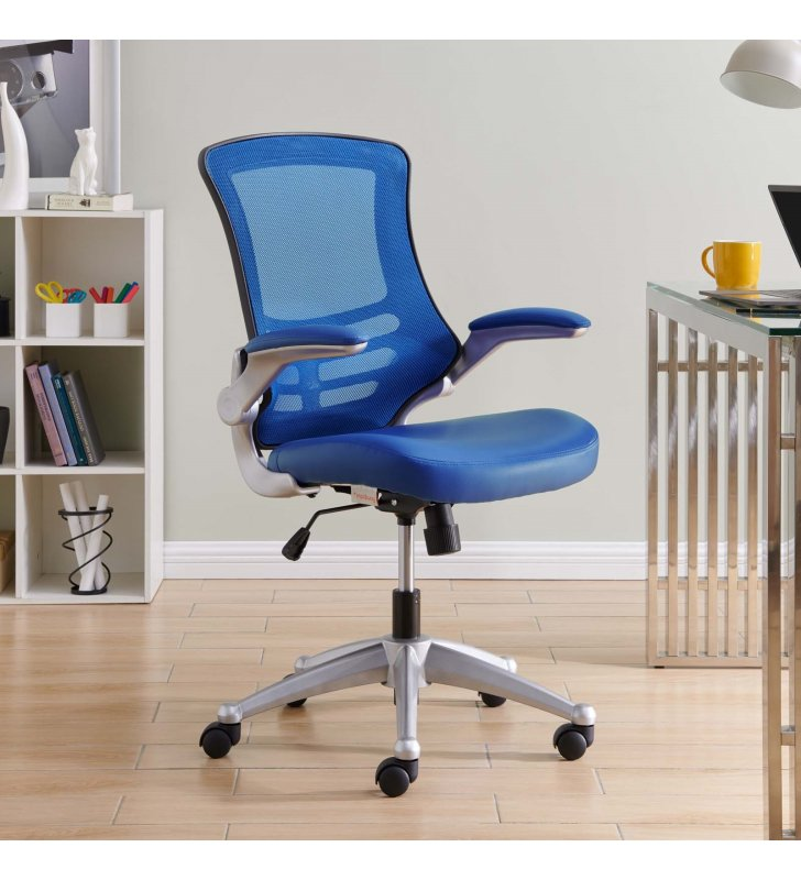 Attainment Office Chair in Blue - Lexmod