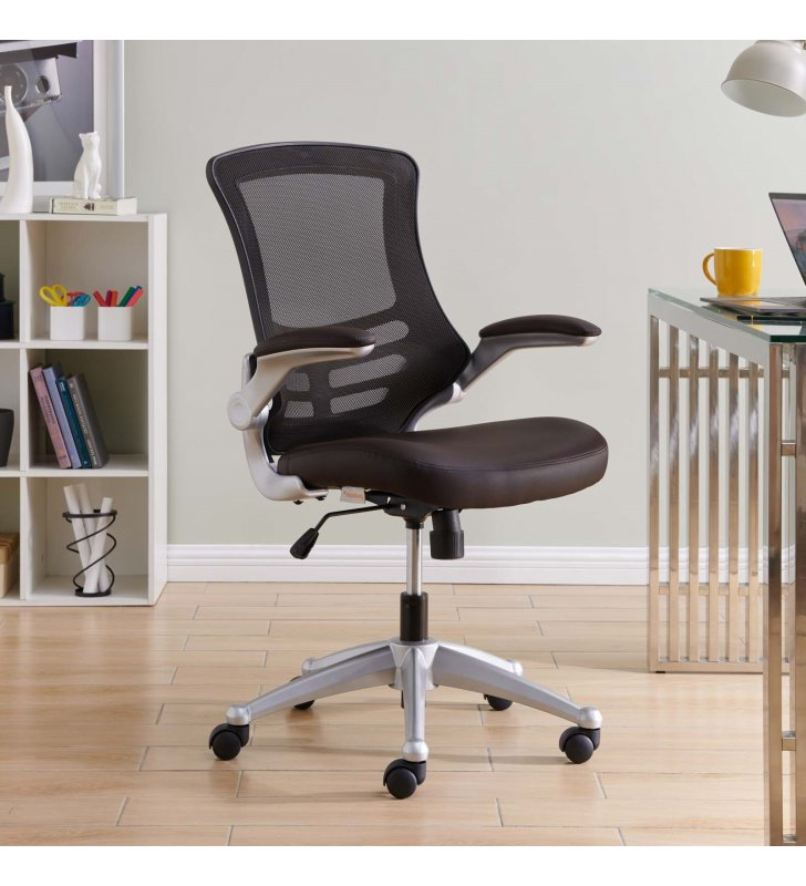 Attainment Office Chair in Brown - Lexmod