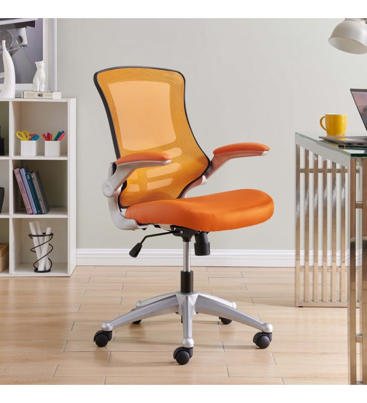 Attainment Office Chair in Orange - Lexmod
