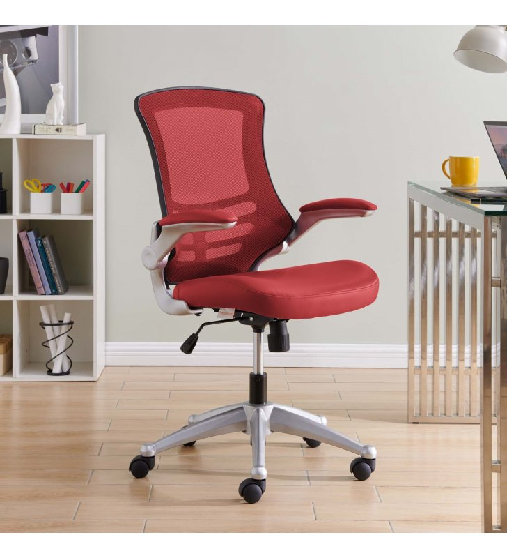 Attainment Office Chair in Red - Lexmod