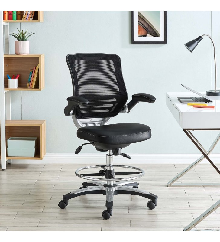 Edge Drafting Chair in Black - Lexmod
