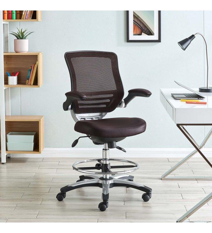 Edge Drafting Chair in Brown - Lexmod