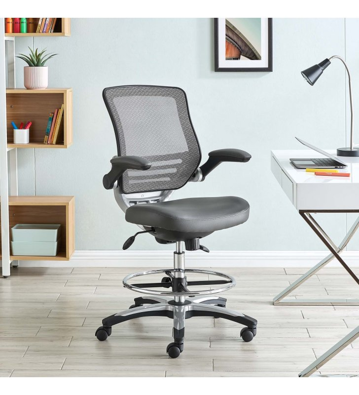 Edge Drafting Chair in Gray - Lexmod