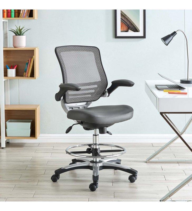 Edge Drafting Chair in Gray - Lexmod