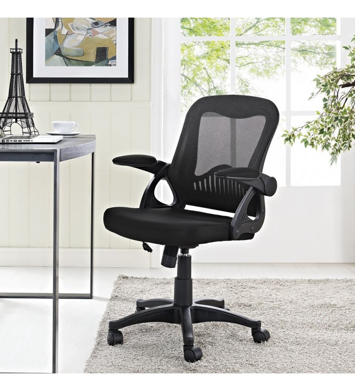 Advance Office Chair in Black - Lexmod