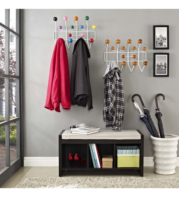 Gumball Coat Rack in Caramel - Lexmod