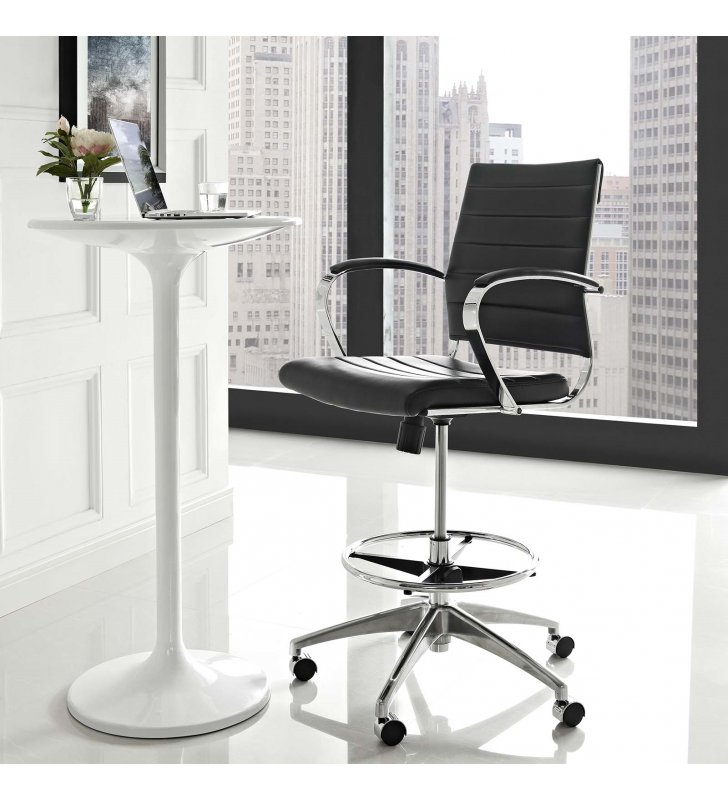 Jive Drafting Chair in Black - Lexmod