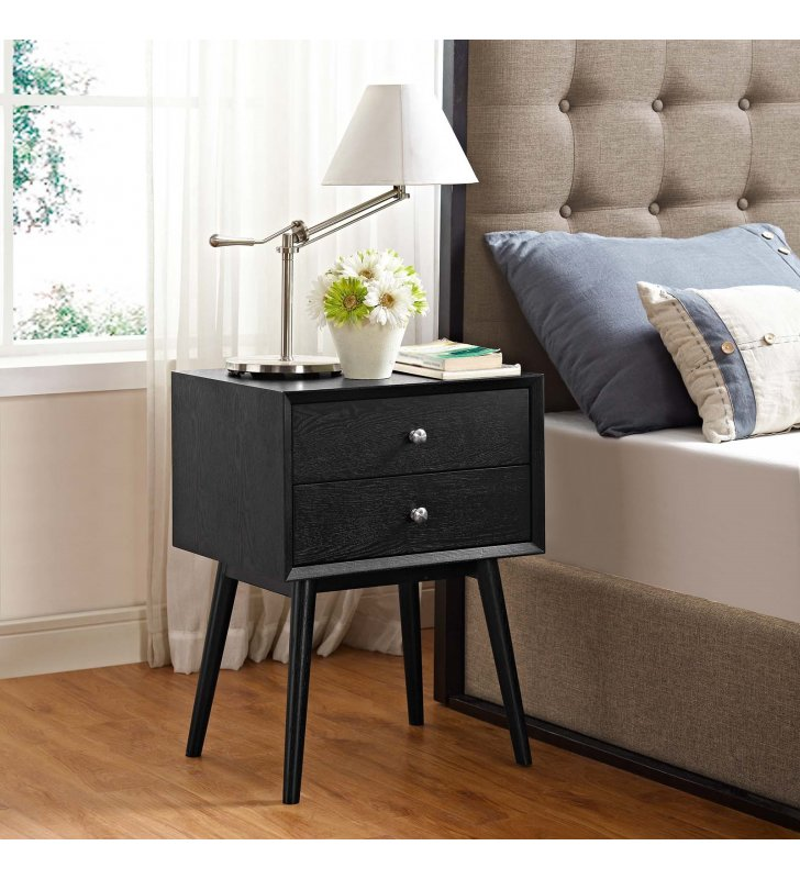 Dispatch Nightstand in Black - Lexmod