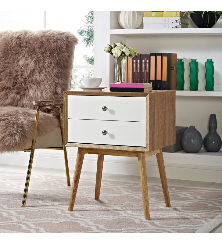 Dispatch Nightstand in Natural White - Lexmod
