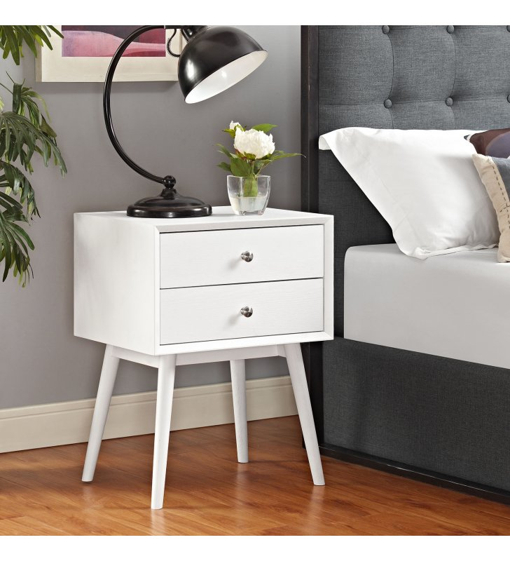Dispatch Nightstand in White - Lexmod