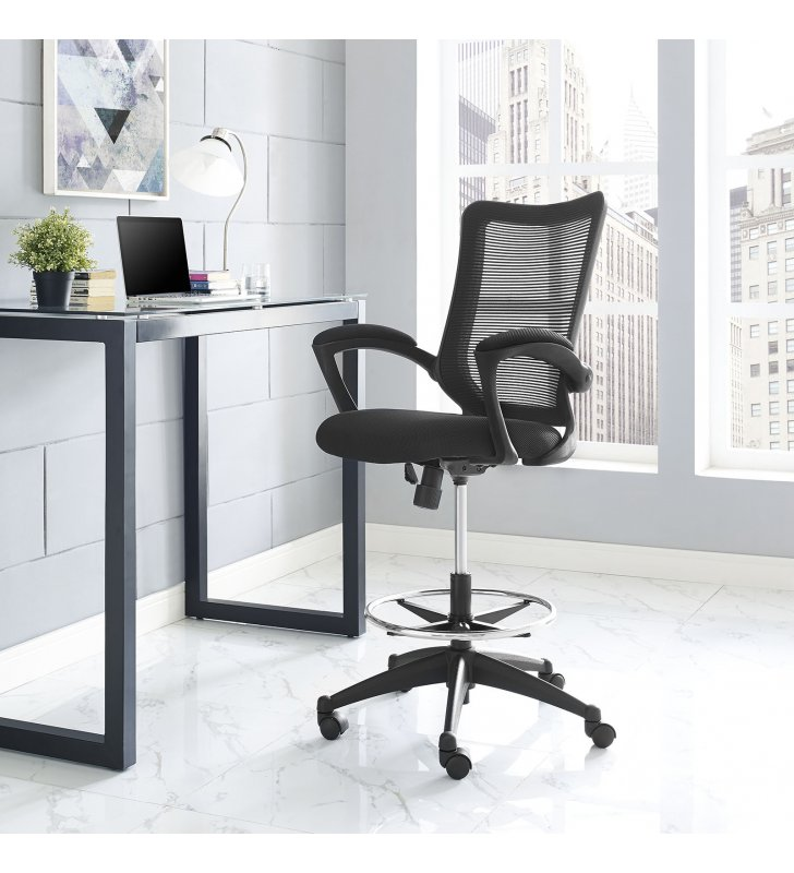 Project Drafting Chair in Black - Lexmod