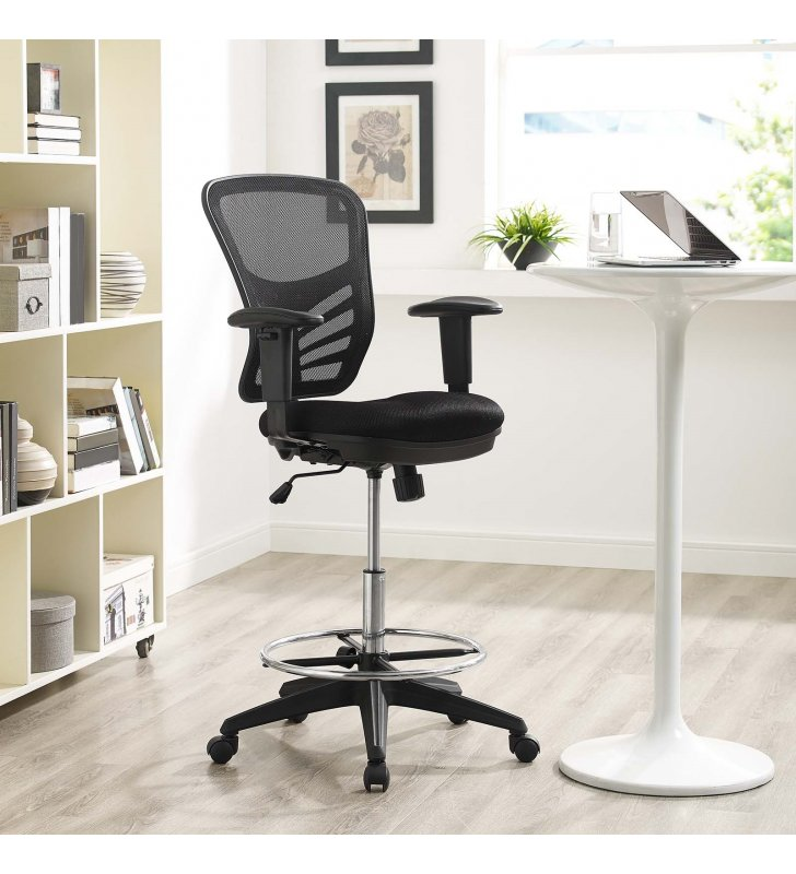 Articulate Drafting Chair in Black - Lexmod